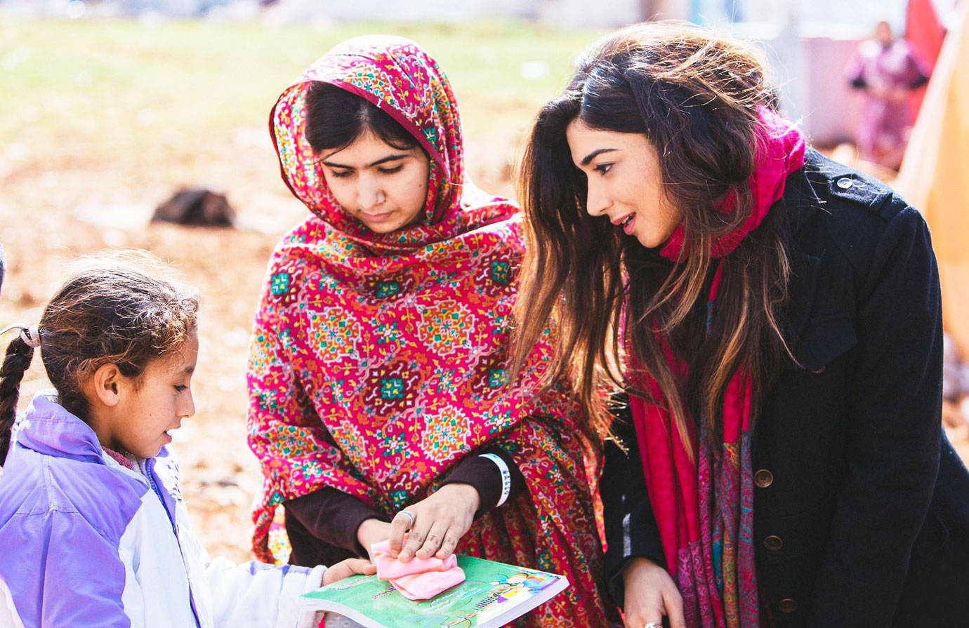 Malala and Shiza spread passionate awareness about the social and economic impact of girls' education and empowering girls to raise their voices, unlock their potential, and demand change.